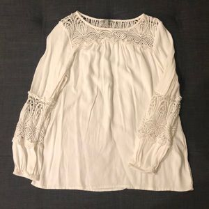 Joie Long-Sleeved White Lace Shirt